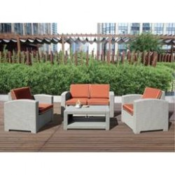 3 Seater Rattan Sofa S F01