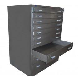 10 Drawer Plan Filing Cabinet