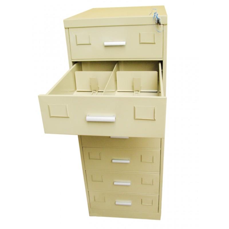 7 Drawer Card Index Filing Cabinet
