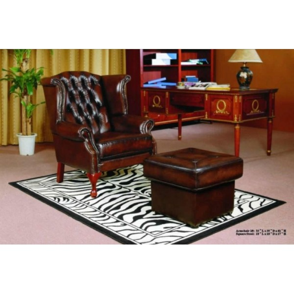 Grandpa Armchair in Full Leather