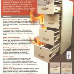 4 Drawer Fire Resistant Filing Cabinet