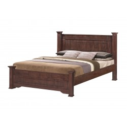 Modena 5 feet double bed  Hardwood bed