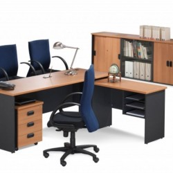 Office Modular Desks Oak 03