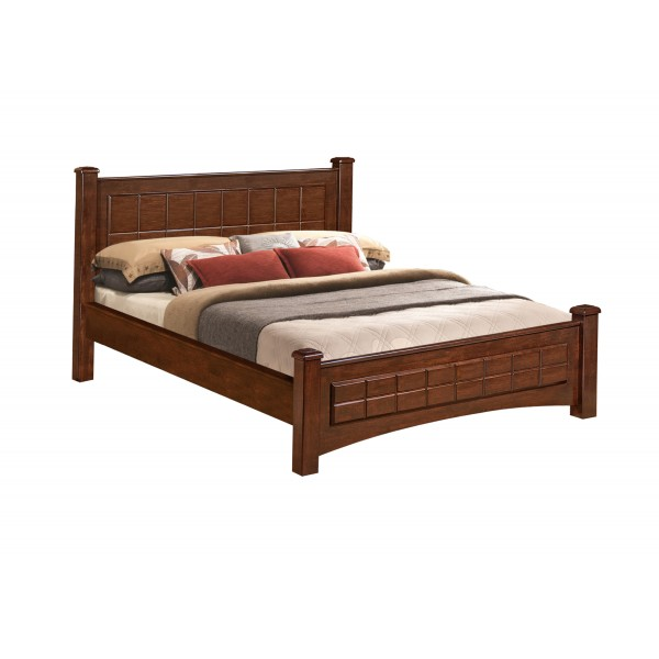 Paragon 5 Feet Solid Wood Bed | Hardwood bed