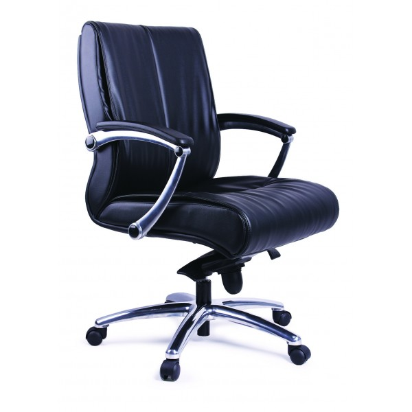 Office Chair | Black PVC Task | Secretarial | Low Back Office Chair PS 03