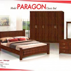 Paragon 5 Feet Solid Wood Bed  Hardwood bed