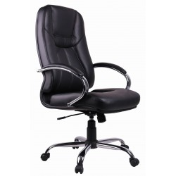Black PVC Executive Office Chair