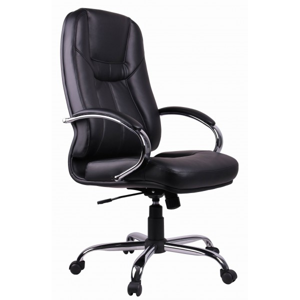 Office Chair | Black PVC Executive Office Chair