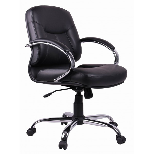 Office Chair | Black PVC Task |Secretarial | Low Back Office Chair TGC03