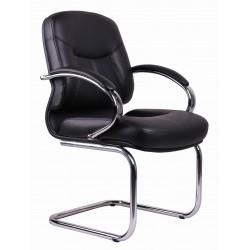 Black PVC Visitors Office Chair TGC04
