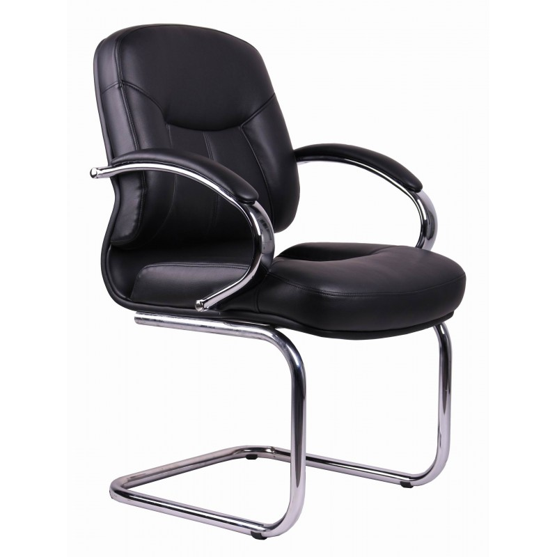 Pvc Chair Product : Visitors office chair pvc black