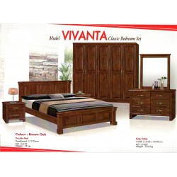 Vivanta 5 Feet Double Bed Hardwood bed