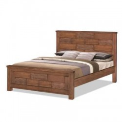 Tahiti 5 feet double bed  Hardwood bed