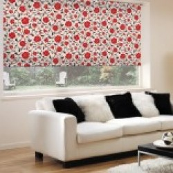 Fabric Roller Blinds Floral