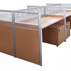 4 Way Workstations | Office Desks