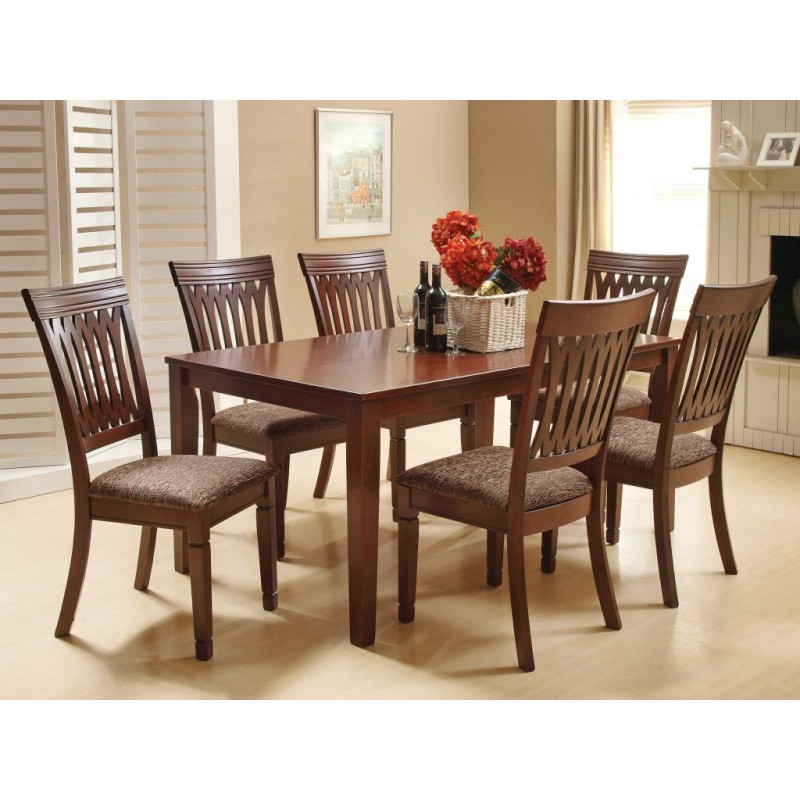 gilmer 6 seater dining table |7 piece dinning table 6 Seater Dining Table