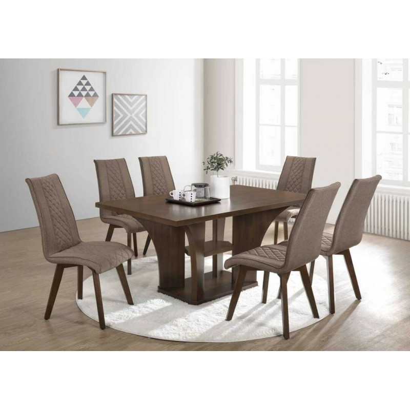 Dining Table Rollins Dining Table: 6 Seater Dining Set