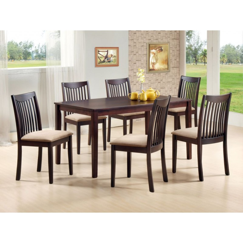 Lewis 6 Seater Dining Table 7 Piece Dining Set