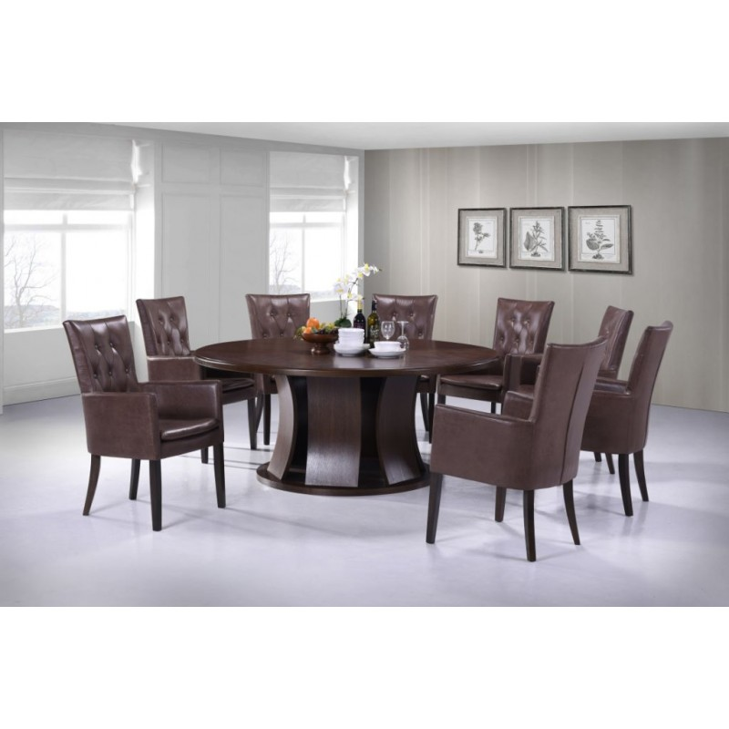 8 Seater Round Dining Table 9 Piece Dining Table Set