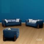 6 Seater Fabric Sofa PT 668