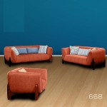 6 Seater Fabric Sofa PT 668
