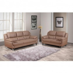 6 seater leather sofa set LY5550