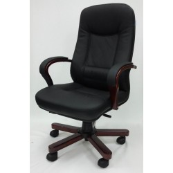 Executive Half Leather Upholstery Office Chair DK-01HLW