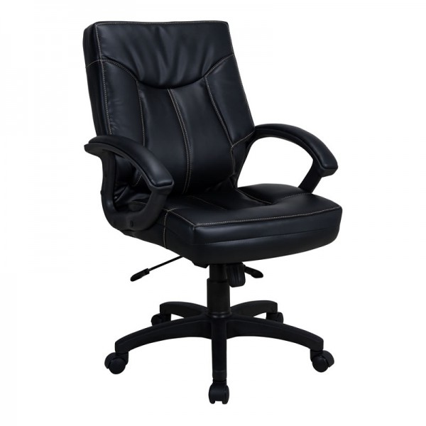 Mid Black Chair In PVC | Office Chair