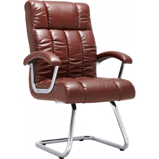 Executive Visitors Chairs In Brown Leather | Office Chair