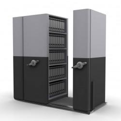 4 Bay Mobile Compactor Mechanical MCM 14 | Bulk Filer|Mobile Shelving