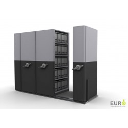 6 Bay Mobile Compactor Mechanical MCM 16 | Bulk Filer|Mobile Shelving