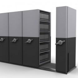8 Bay Mobile Compactor Mechanical MCM 18 | Bulk Filer|Mobile Shelving