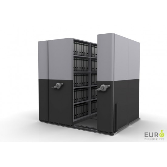 4*2 Bay Mobile Compactor Mechanical MCM 24   Bulk Filer Mobile Shelving